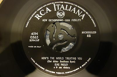 "Elvis Presley ‎– How's The World Treating You 7"" Single RCA Italiana‎– 45N 0565"