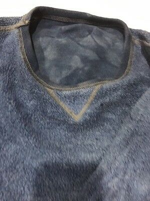 Indigo Dyed Sun bleached Vtg V Sweatshirt Not Double V Destroyed
