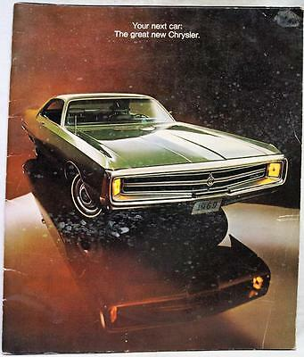 1969 Chrysler Automobile Models Advertising Dealer Sales Brochure Vintage