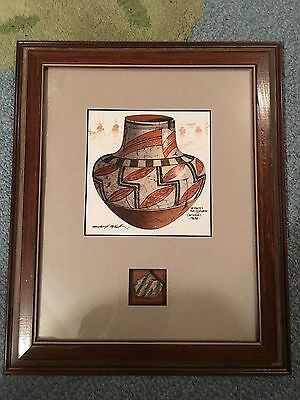 Indian Pottery Sherd with painting by McCullough