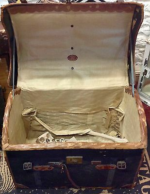 Antique Large Travel Trunk/chest Portmanteau With Free Optional Skeleton!