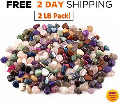 1LB Bulk CRYSTALS MIX BRAZIL LOT Tumbled Polished Natural Stones Pure Collection