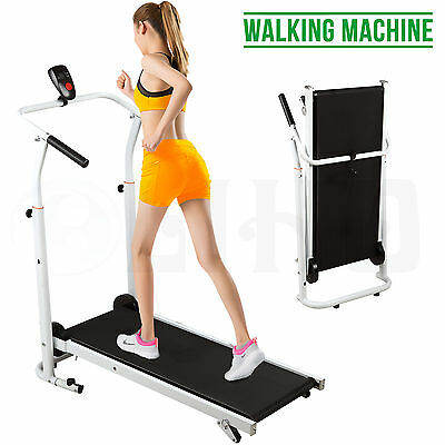 BN Folding Manual Treadmill Walking Machine Cardio Fitness Running Exercise