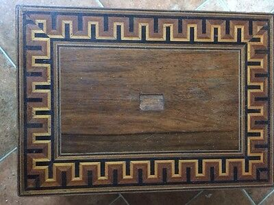 Antique Wooden Writing Box/Slope, Superb Marketory and Brass work.