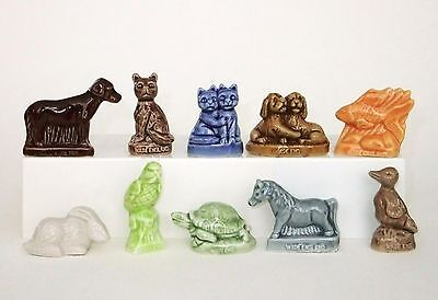 WADE Pet Shop Porcelain Figurines ~ Miniatures ~ Whimsies - Complete Set of 10