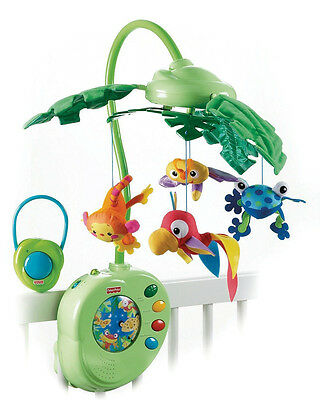 Fisher Price Rainforest Peek A Boo Leaves Musical Mobile Toy With 3 Settings
