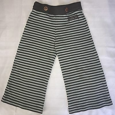 Girl 6 Matilda Jane Smooth Sailing Straightees Pants Cute Brown Blue Striped