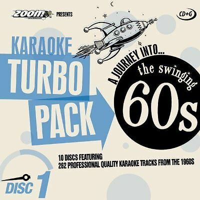 Zoom Karaoke CD+G Turbo Pack The Swinging 60s 10 Disc Set New Sealed