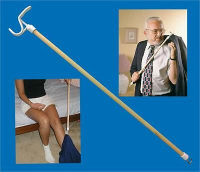 """Dressing Stick 27"""" Push Pull Hook Long Lightweight Mobility Disability Aid"""