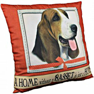 E&S Pets Super Soft Pillow Dog Breed Basset Hound Puppy Home Decor Cute