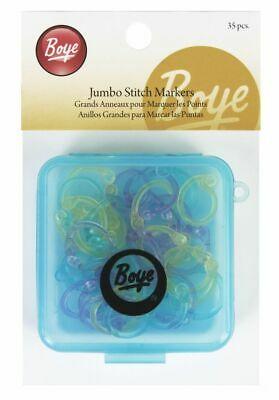 Boye Simplicity 35x Jumbo Locking Stitch Markers - Flexible - Case - Knitting