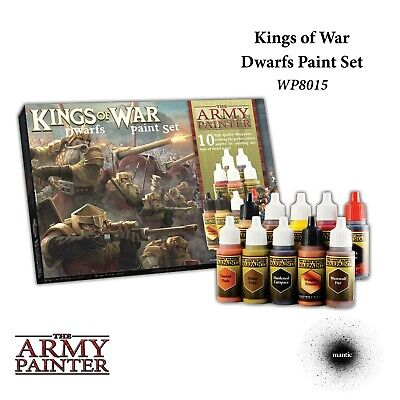 Warpaints: Kings of War Dwarfs Paint Set Army Painter Acrylic New AP-WP8015