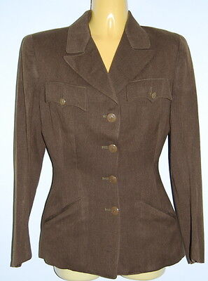 VTG Orig WWII WAAC WAC US Army Enlisted Dress Uniform Tunic Jacket Dated 1942