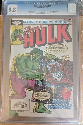 Marvel CGG 9.8 Incredible Hulk #271 **1st App Rocket Raccoon** GOTG White pages!