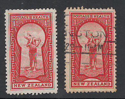 New Zealand: Health stamp, mint and used, 1935