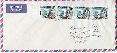 Seychelles: Airmail Cover, Victoria to Clifton, VA, USA, April 1979
