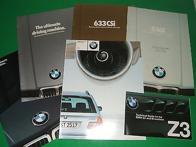 Lot of six different pieces BMW sales literature