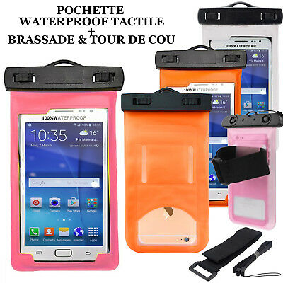 POCHETTE ETANCHE, HOUSSE COQUE WATERPROOF TACTILE Pr IPHONE,SAMSUNG,HUAWEI,WIKO