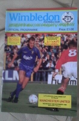 Manchester united v Wimbledon away 1988/89 very good con league cup r3