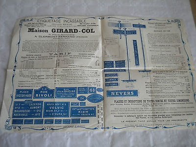 vintage catalogue poster 1920s French sign maker road signs names Girard-Col