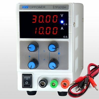 SKYTOPPOWER Variable DC Power Supply 0-30V 0-10A is 4 Digit High precision 110