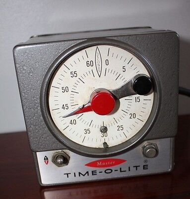 Tested Master Time-O-Lite Industrial Timer Darkroom Photography Equipment M-59