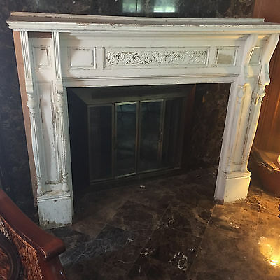 Antique Fireplace Mantel Pre 1907 Oak