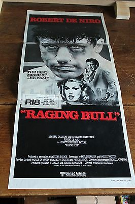 RAGING BULL Robert DeNiro ORIGINAL MOVIE POSTER Daybill 13 x 30""