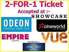 2-FOR-1-CINEMA(ANY)TICKET VOUCHER CODE 20th Tue/ 21st wed, Cineworld Odeon Vue