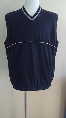 Nike Golf Clima-Fit Black V-Neck Wind Vest Pullover Large Perfect Condition!!