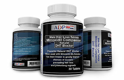 30 Minoxidil Companion Capsules DHT Blocker for Male Hair Loss *Take one per day