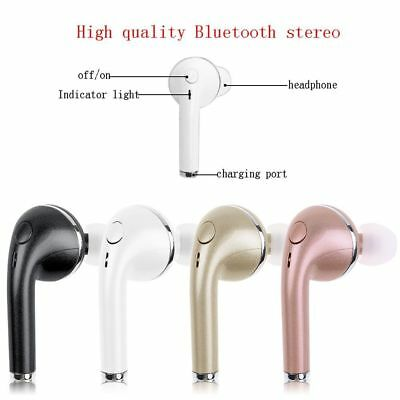 Bluetooth Wireless Headset Stereo Earphone Mic Pod Air for iPhone 7/Plus 6 S