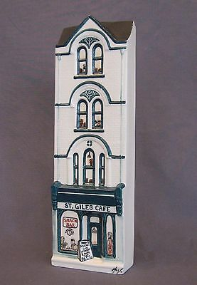 HAZLE CERAMICS: A Nation Of Shopkeepers: St. Giles Cafe 64/750 Mint in Box COA