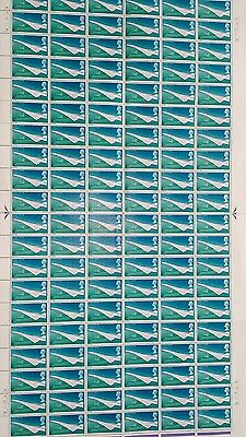 1969 Concorde 4d Complete Sheet - With Listed Flaw UNMOUNTED MINT/MNH