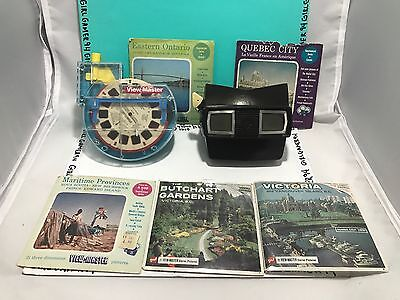 1942 View Master + View Master 3-D + 5 Sets of Film (All Canadian) + 1 Disney
