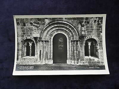 Vintage Real Photograph Postcard of Dryburgh Abbey, Doorway to Chapter House