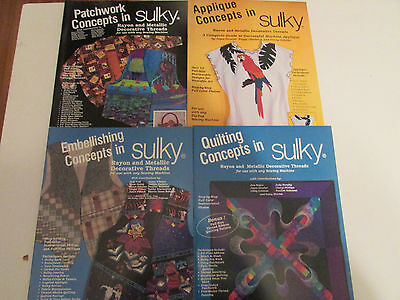Sulky Embroidery Books- Lot of 4