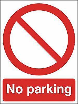 "Signs and Labels AMZML019ARPMVR ""No Parking"" Prohibition Safety Sign, Aluminium,"