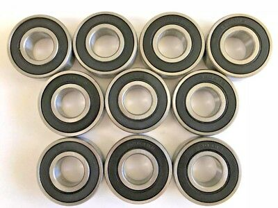 10 pcs 6204 2RS double rubber sealed ball bearing, 20x 47x 14 mm