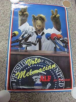 "ALF Poster TV Show 34.5"" x 23"" 1988 Alien Productions Vote ALF for President"