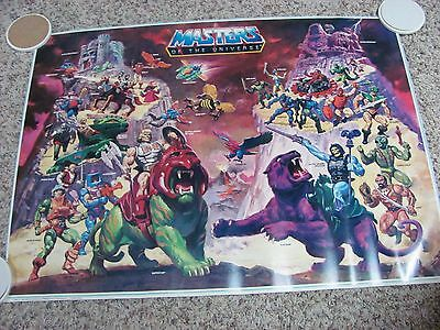 "Masters of the Universe Poster Mattel 1984 He-Man 32"" x 23"" Original"