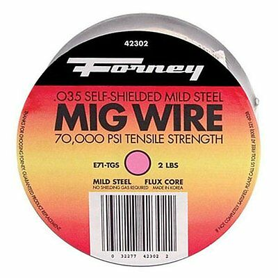"Forney Industries Forney 42302 Flux Cored MIG Wire 0.035"", 2 lbs"