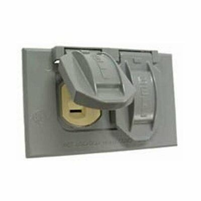 Bell 5712-5 Weatherproof Cover & Duplex Receptacle, Gray
