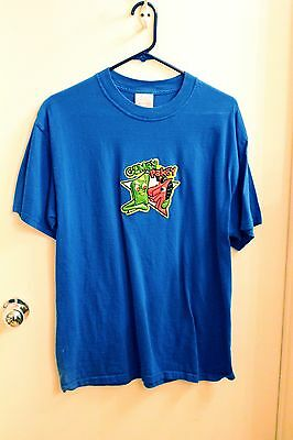 GUMBY& Pokey Raised Embossed Patch T-Shirt Large L Unisex Blue Prema Toy NEW