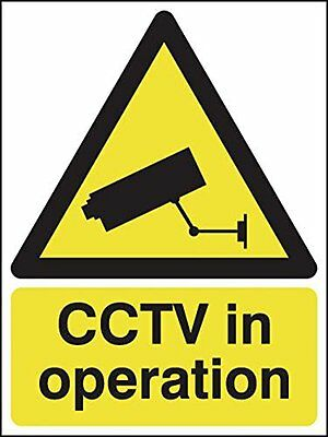 "Signs and Labels AMZGS007ARPMVR ""CCTV in operation"" Hazard Safety Sign, 600 mm x"