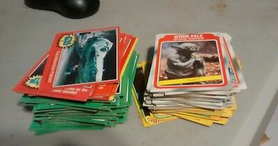 Star wars and Empire strikes back trading cards lot of 143