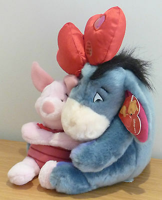 Disney Store Eeyore & Piglet with Light Up Balloons Soft Toy