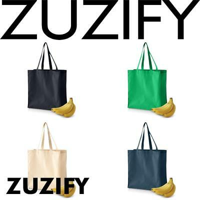 ZUZIFY Cotton Canvas Grocery Tote Bag. LE0761