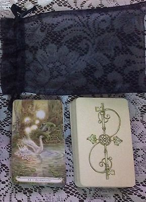 The Fairy Tale Tarot by Lisa Hunt OOP 78 Card Deck with Black Organza MINT