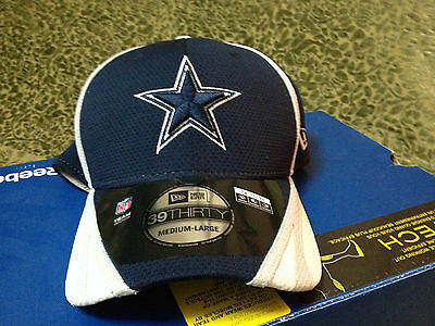 NFL Dallas Cowboys New Era Hat Blue 39 Thirty Cap Mens Medium-Large Football NWT